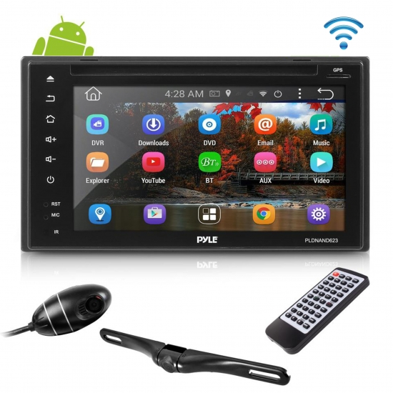 Android Stereo Receiver & Dual Camera System HD DVR Dash Cam
