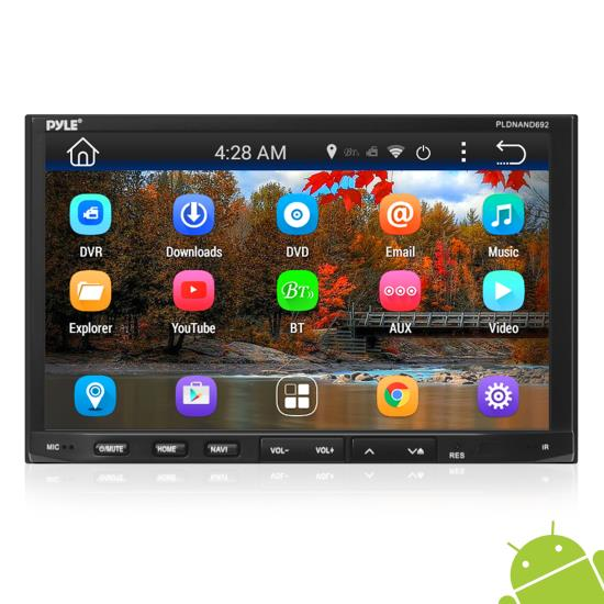 Double DIN Android Car Stereo Receiver with Tablet-Style