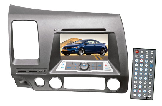 Pyle - PLDNHC62 , On the Road , Headunits - Receivers , Direct Factory Replacement for Honda Civic 2007 - 2010 Touch Screen Multimedia Disc/MPEG4/MP3-RW/USB/SD/ System With 6.2'' HD Monitor and Bluetooth