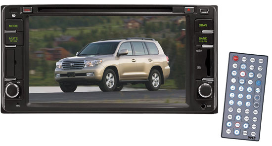 Pyle - PLDNTC65 , On the Road , Headunits - Stereo Receivers , Direct Factory Replacement for Toyota Land-Cruiser 2000--2006 Touch Screen Multimedia Disc/MPEG4/MP3-RW/USB/SD/ System With 6.5'' HD Monitor and Bluetooth