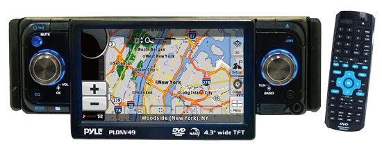 Pyle - RBPLDNV49 , Mobile Video / Navigations , Car Navigation , 4.3'' TFT Touch Screen DVD/CD/MP3 Player/AM/FM/SD-USB Receiver w/ Built-IN GPS & USA Canada & Mexico Maps