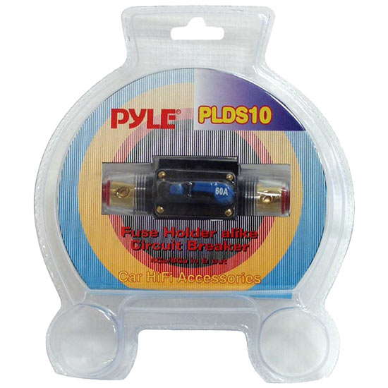 Pyle - PLDS10 , Car Audio , Audio / Video Cables And Accessories , Fuses Blocks and Panels , 60 Amp In-Line Circuit Breaker