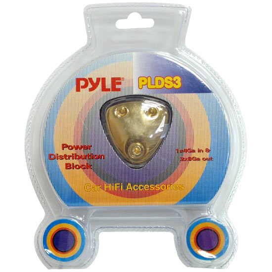 Pyle - PLDS3 , Car Audio , Audio / Video Cables And Accessories , Fuses Blocks and Panels , 3 Way Power Distribution Block
