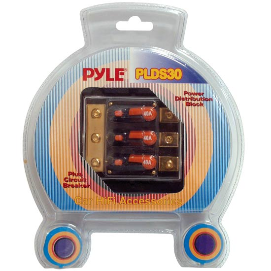 Pyle - PLDS30 , Car Audio , Audio / Video Cables And Accessories , Fuses Blocks and Panels , Triple 40 Amp In-Line Circuit Breaker