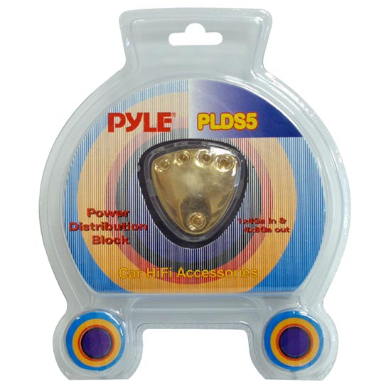 Pyle - PLDS5 , Car Audio , Audio / Video Cables And Accessories , Fuses Blocks and Panels , 5 Way Power Distribution Block