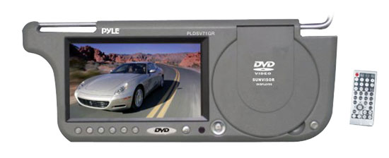 Pyle - PLDSV71GR , On the Road , Video Monitors , 7'' TFT Right Sun visor w/build-in Multimedia Disc/USB-SD Card Slot (Grey)