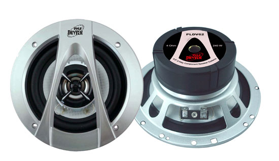 Pyle - PLDV62 , On the Road , Vehicle Speakers , 6.5'' 240 Watt Two-Way Speaker