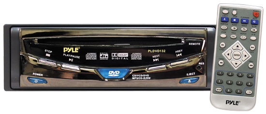 Pyle - PLDVD132 , On the Road , Headunits - Stereo Receivers , In-Dash/Universal Mobile Multimedia Disc/MP3 Player