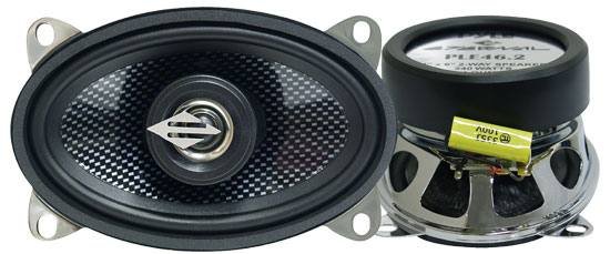 Pyle - PLE46.2 , Car Audio , Car Speakers , 4x6'' Car Speakers , 4'' x 6'' Two-Way Coaxial Speaker System