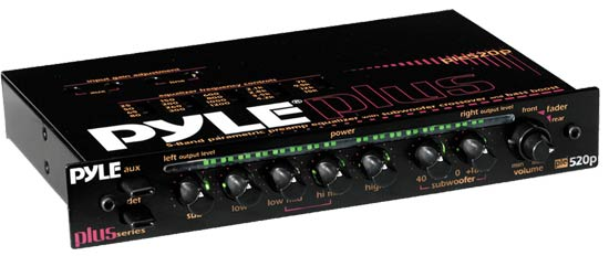 Pyle - PLE520P , On the Road , Equalizers - Crossovers , 5-Band Rotary Control Pre-Amp Parametric Equalizer W/ Subwoofer Output