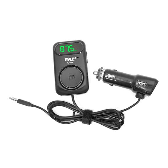 Pyle - PLFMT6 , On the Road , Plug-in Audio Accessories - Adapters , FM Radio Transmitter Smartphone Connector (Connects Your Smartphone to Your Car for Hands-Free Call Answering and Music Playing)