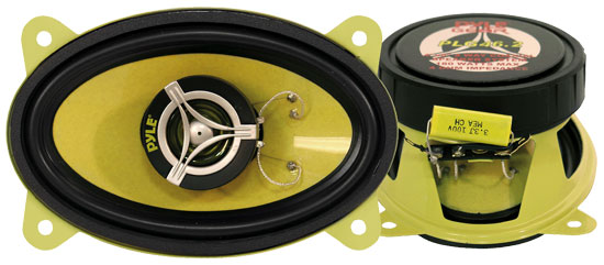 Pyle - PLG46.2 , On the Road , Vehicle Speakers , 4'' x 6'' 180 Watt Two-Way Speakers