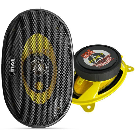 Pyle - PLG46.3 , Car Audio , Car Speakers , 4x6'' Car Speakers , 4'' x 6'' 180 Watt Three-Way Speakers