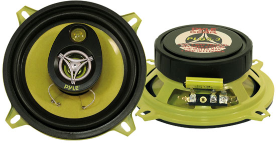 Pyle - PLG5.3 , On the Road , Vehicle Speakers , 5.25'' 140 Watt Three-Way Speakers