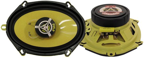 Pyle - PLG57.2 , Car Audio , Car Speakers , 5x7'' Car Speakers , 5'' x 7''/6'' x 8'' 240 Watt Two-Way Speakers