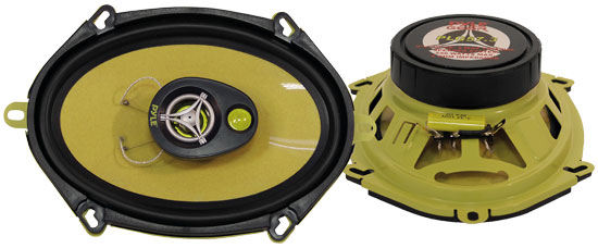 Pyle - PLG57.3 , Car Audio , Car Speakers , 5x7'' Car Speakers , 5'' x 7''/6'' x 8'' 240 Watt Three-Way Speakers