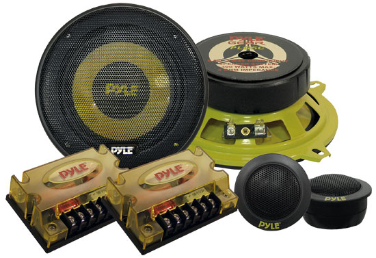 Pyle - PLG5C , On the Road , Vehicle Speakers , 5.25'' 300 Watt 2-Way Custom Component System