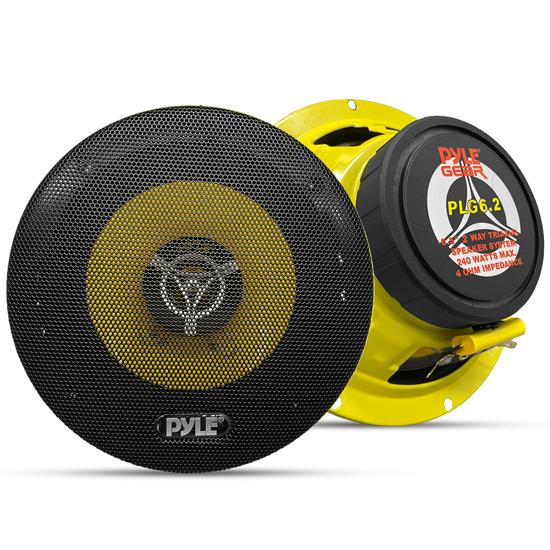 Pyle - PLG6.2 , On the Road , Vehicle Speakers , 6.5'' 240 Watt Two-Way Speakers