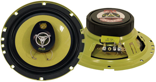 Pyle - PLG6.3 , Car Audio , Car Speakers , 6.5'' Car Speakers , 6.5'' 280 Watt Three-Way Speakers