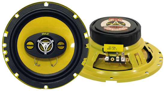Pyle - PLG6.4 , On the Road , Vehicle Speakers , 6.5'' 300 Watt Four-Way Speakers