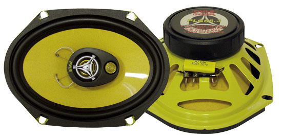 Pyle - PLG68.3 , Car Audio , Car Speakers , 6x8'' Car Speakers , 6'' x 8'' 280 Watt Four-Way Speakers