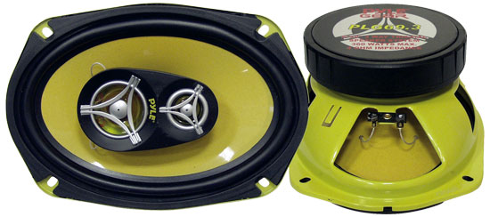 Pyle - PLG69.3 , On the Road , Vehicle Speakers , 6'' x 9'' 360 Watt Three-Way Speakers