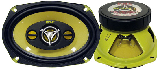 Pyle - PLG69.4 , On the Road , Vehicle Speakers , 6'' x 9'' 400 Watt Four-Way Speakers