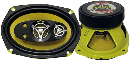 Pyle - PLG69.5 , On the Road , Vehicle Speakers , 6'' x 9'' 450 Watt Five-Way Speakers
