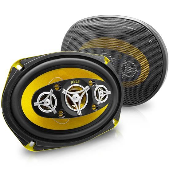 Pyle - PLG69.8 , Car Audio , Car Speakers , 6x9'' Car Speakers , 6'' x 9'' 500 Watt Eight-Way Speakers