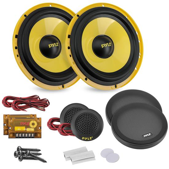 Pyle - PLG6C , On the Road , Vehicle Speakers , 6.5'' 400 Watt 2-Way Custom Component System