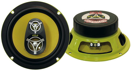 Pyle - PLG8.3 , On the Road , Vehicle Speakers , 8'' 400 Watt Three-Way Speakers