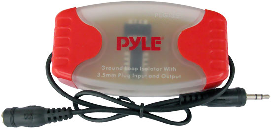 Pyle - PLGI35T , On the Road , iPod/MP3 Audio Interface - Ground Loop Isolators , 3.5MM / 1/8'' Stereo Audio Ground Loop Isolator