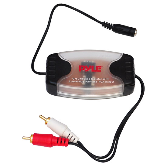 Pyle - PLGI36R , Car Audio , Audio / Video Cables And Accessories , Noise Suppressors / Filters , 3.5MM - 1/8'' To RCA Stereo Audio Ground Loop Isolator