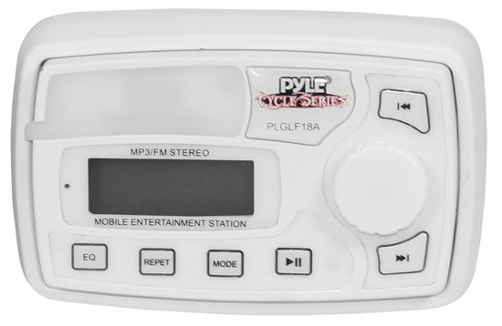 Pyle - PLGLF18A , On the Road , Motorcycle and Off-Road Speakers , 100 Watt Motorcycle/ATV/Snowmobile Mount Speakers w/MP3/iPod Stereo Input (White)