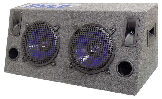 Pyle - PLHB10 , On the Road , Subwoofer Enclosures , Dual 10'' 800 Watt Hatchback Speaker Enclosure System
