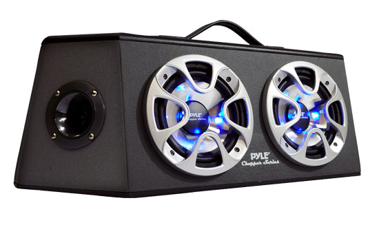 Pyle - PLHB28 , On the Road , Subwoofer Enclosures , Dual 8'' 1000 Watt 4 Way Hatchback Speaker Enclosure System