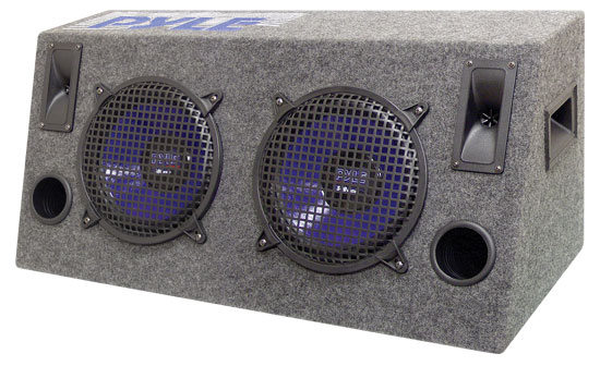 Pyle - PLHB8 , On the Road , Subwoofer Enclosures , Dual 8'' 600 Watt Hatchback Speaker Enclosure System