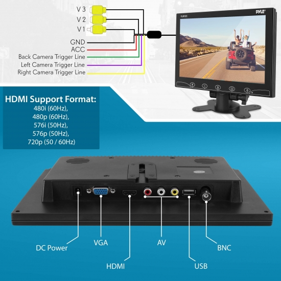 Widescreen Digital Video Monitors - On the Road Products