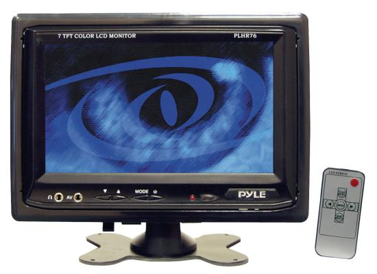 Pyle - PLHR76 , On the Road , Video Monitors , 7'' Widescreen TFT/LCD Video Monitor w/Headrest Shroud