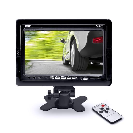Pyle - PLHR77 , Mobile Video / Navigations , Headrest Monitors , 7'' Wide Screen TFT LCD Video Monitor w/Headrest Shroud and Universal Stand
