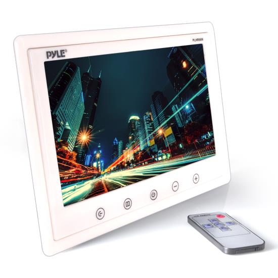 Pyle - PLHR98W , On the Road , Video Monitors , 9.2'' Hi-Res Widescreen Headrest Monitor, Stand & Shroud - w/RCA Connectors & Remote Control (White Color)