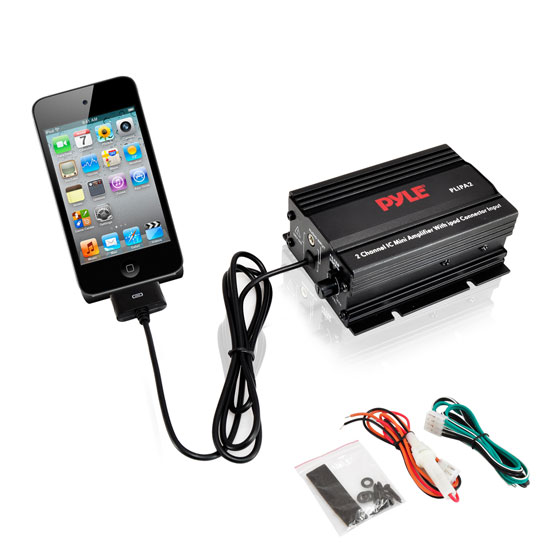 Pyle - PLIPA2 , Home Audio / Video , i-Pod - iPad & MP3 Accessories , 2 Channel 300 Watt Mini Amplifier w/ipod Direct Input