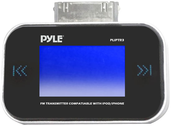 Pyle - PLIPTR3 , Mobile Video / Navigations , FM Modulators & Transmitters , FM Trasmitter Compatible With Ipod/Iphone