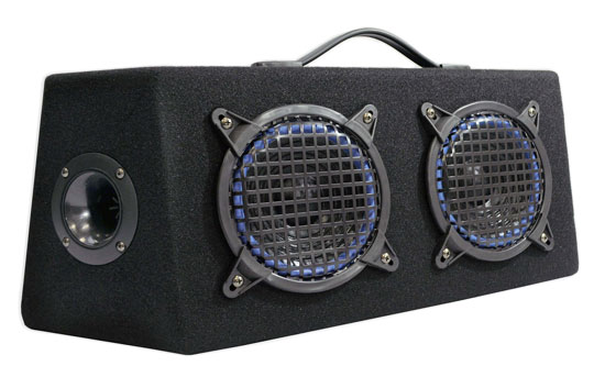 Pyle - PLKB85 , Car Audio , Subwoofer Enclosures , Hatchback Systems , 8'' 1000 Watt 4 Way Hatchback Speaker Enclosure System