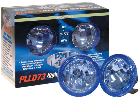 Pyle - PLLD73RR , Disc , Pyle Lite Series High Power Rainbow Red Halogen Lamp Set