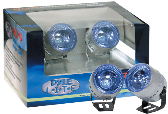Pyle - PLLD75BL , Disc , Pyle Lite Series High Power Blue Halogen Lamp Set