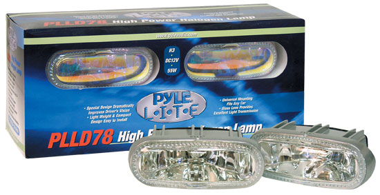 Pyle - PLLD78BL , Disc , Pyle Lite Series High Power Blue Halogen Lamp Set