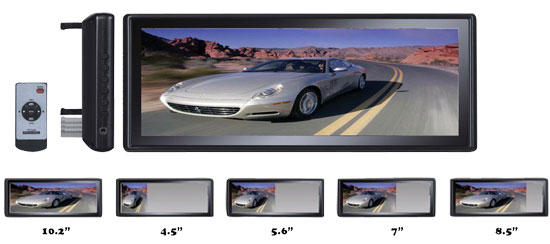Pyle - PLM102 , On the Road , Rearview Backup Cameras - Dash Cams , 10.2'' TFT/LCD Rearview Mirror Monitor