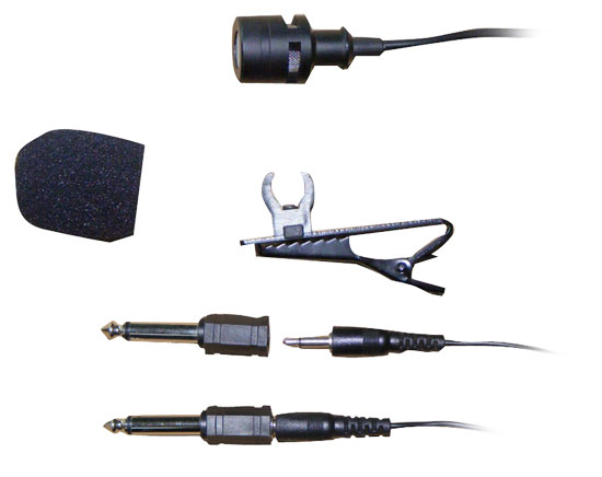 Pyle - PLM3 , Sound and Recording , Microphones , Wired Lavalier 3.5mm/ 1/4'' Uni-Directional Microphone