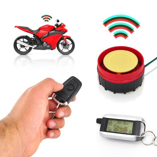 Pyle - PLMCWD75 ,  , Watch Dog Motorcycle Vehicle Alarm Security System, Remote Auto-Start, Automatic Re-Arm, Includes (2) ECU Control Transmitters, Anti-Hijack Engine Immobilization, High-Power Piezo Speaker, Mountable LED Indicator